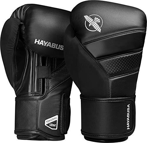 Hayabusa T3 Boxing Gloves for Men & Women - Black, 18oz