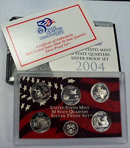 2004 S Silver Statehood Quarters Proof Set Original Government Package
