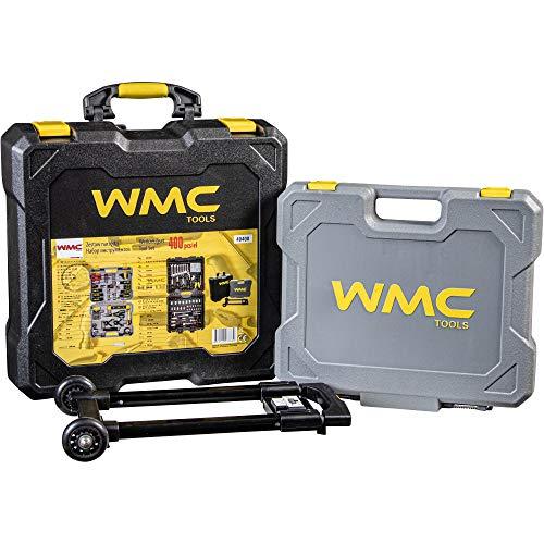 """Werkzeugkoffer WMC Tools 400-teilig 1/4"""" 1/2"""" Werkzeugset Trolley Heimwerker 1/2"""" Werkzeug Set 1/4"""""""