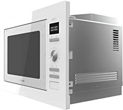Cecotec Microondas encastrable Digital GrandHeat 2590 Built-In White. Potencia 900 W, Integrable, 25 litros, Grill 1000 W, 8 Funciones preconfiguradas, Temporizador