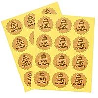 YVCHEN 102pcs花の形ハッピーバースデークラフトシールステッカーDIYギフトシールLablesステッカーのために党の賛成袋キャンディボックスの装飾