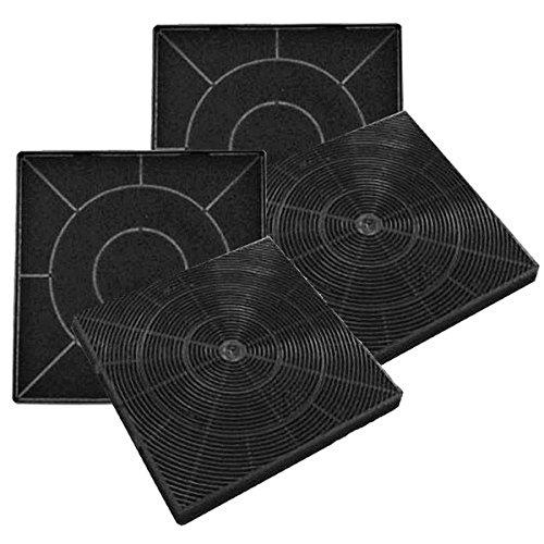 Aktivkohlefilter für Kolbe KSC100, Domatix KSC300, Oranier KSC100 und Termikel AKS 500 - Kassettenkohlefilter - Geruchsfilter - Schwarz - Sparset mit 4 Stück