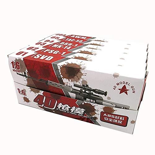 YLHXYPP Duradero 6pcs/Set Pistola recubierta Modelo Sniper Rifle SVD,PSG-1,MK14,DSR-1,TAC-50 1:6 Arma de Kits de Montaje para 12'Figura de acción de Juguete de colección Ingeniería plástico