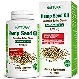 NATTURA Hemp Oil 1000 mg* 100% Pure Cold Pressed Hemp Seed Oil* Omega 3-6-9* Non-GMO, Certified Kosher, cGMP - 40 Softgels