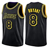 ZZH NBA Los Angeles Lakers- #8/#24, Kobe Bean Bryant NBA Summer Sports Uniformes Camiseta, Baloncesto para Adultos Ropa Deportiva Entrenamiento Sin Mangas Unisex,Black 2-L