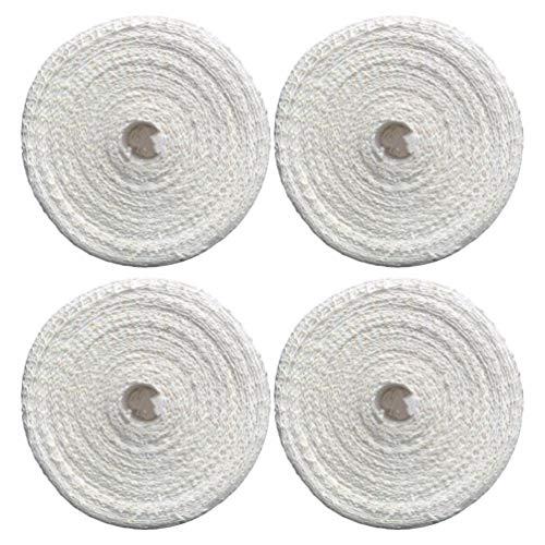 Hemoton 4 Stück 1m Fleisch Netz Bratennetz Rollbratennetz Räuchernetz Elastische Netz für Einfüllrohr Küchenhelfer Weiß