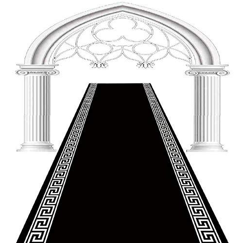 Alfombra De Entrada para Decoración del Hogar, Simple Negro Patrón Chino Alfombrillas De Piso Alfombra Lavable para Encimera De Cocina Alfombrillas Largas para Baño Sala De Estar Felpudo,60x400cm