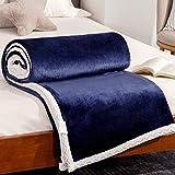 RATEL Mantas para Sofa Azul Marino 150×200cm, Mantas para Cama Mejorada 420GSM, Manta de Microfibra 100% Supersuave - Fácil De Cuidar- Ligera, Cálida, Cómoda Y Duradera