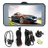 Grabadora de video para automóvil de 170 grados, grabadora de conducción de doble lente, con altavoz incorporado con micrófono para grabar video en el automóvil