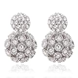Circle Stud Front and Hollow Design Ball Back, Double...