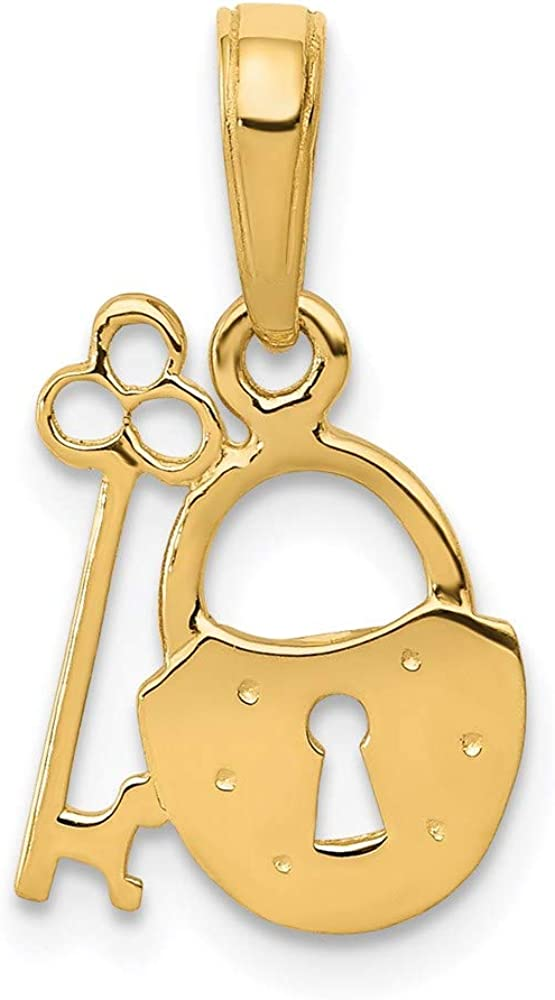 14k Yellow Gold Key Lock Pendant Charm Necklace Love With Fine Jewelry For Women Gifts For Her