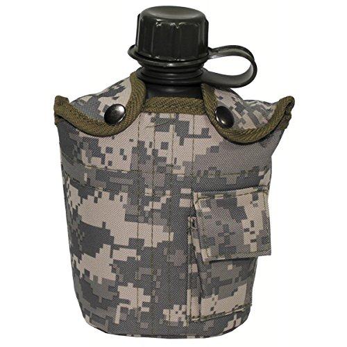 BKL1® US Plastikfeldflasche 1 L Trinkflasche mit Hülle AT Digital Outdoor Camping wandern 1275