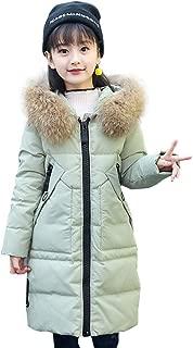 Girls' Kids Winter Fur Hooded Down Coat Puffer Jacket Parka 5 6 7 8 9 10 11 12 Years Overcoat for Big Girl