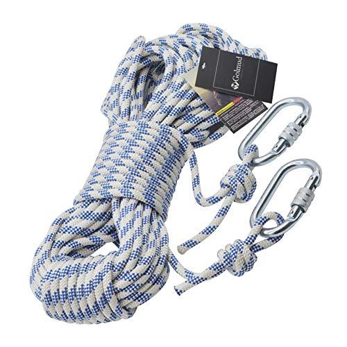 ZWYY Klettern-Seil, Nylon-Sicherheitsseil 8mm Rettungs-Überlebenskordel-Rettungsschnur tragen beständiges Bergseil für das Abseilen, Canyoneering