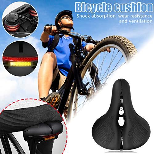 MerryWould Silla de Montar Gruesa para cojín de Asiento de Bicicleta, cojín de Asiento de Bicicleta súper Suave, con Amortiguador Universal de Cuatro Estaciones + 1 Llave de Acero Inoxidable