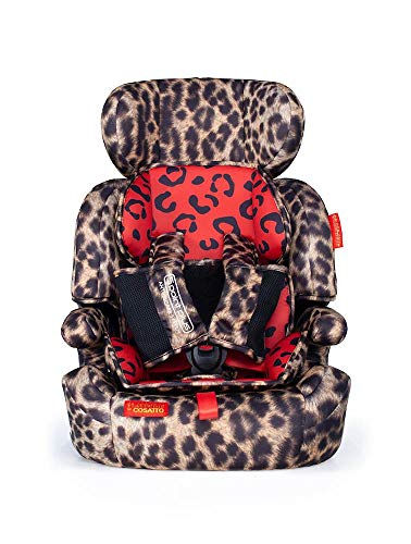 Cosatto Zoomi Car Seat - Group 1 2 3, 9-36 kg, 9 Months-12 years, Side Impact Protection, Forward Facing (Hear Us Roar)