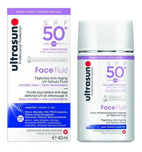 Ultrasun Face Fluid SPF50+  Anti-Aging UV Schutz Fluid, 1er Pack (1 x 40 ml)