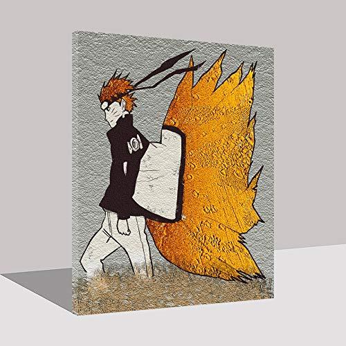 Puzzle 1000 Piezas Naruto Lienzo Pintura Japonesa animación Arte Personajes Puzzle 1000 Piezas paisajes Gran Ocio vacacional, Juegos interactivos familiares50x75cm(20x30inch)
