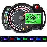 GZLMMY 299 MPH/KPH - Tacómetro digital LCD digital odómetro universal para moto en y7 colores ajustables