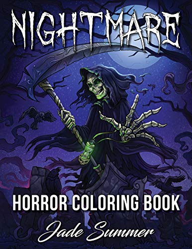 Nightmare: A Horror Coloring Book with Terrifying Monsters, Evil Women, Dark Fantasy Creatures, and Gothic Scenes for Relaxation