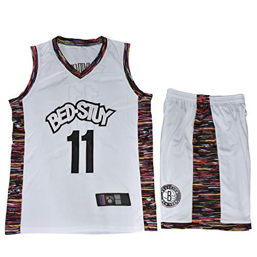 CHYSJ NETS Nr. 11 Irving Basketball-Jersey, voll gesticktes Trikot, Herren- und Damen-Stadt-Version Basketball-Uniformen White-L