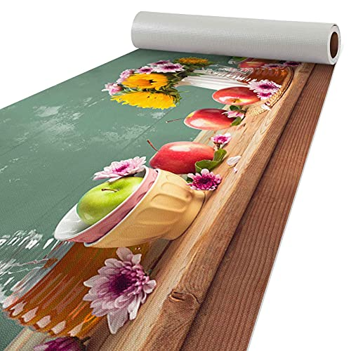 ANRO Küchenläufer Läufer Küchenteppich Flur Teppichläufer Polyester Abwaschbar Gartentisch 240x51cm