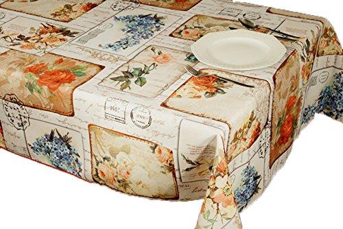 Nappe anti-taches Vintage Flower Idéale comme décoration 300 x 150