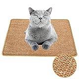 Xnuoyo Alfombrilla Rascadora para Gatos de Sisal Natural, Antideslizante Rascador de para Gatos se Puede Utilizar para moler Garras de Gato y Proteger alfombras(40 * 60CM)