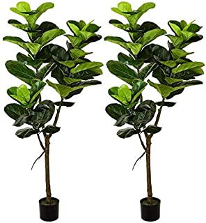Amazon Com Artificial Trees Floor Artificial Trees Artificial Plants Flowers Home Kitchen