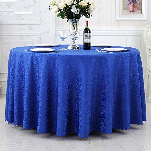 Nappes Nappe ronde, Nappe ronde à l'hôtel Blue Meeting Salon de la salle à exposition Salon de la maison Tissu à café ( Couleur : A , taille : Round-300cm )