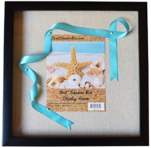 """12x12"""" Display Shadow Box Frame with Linen Background ..."""