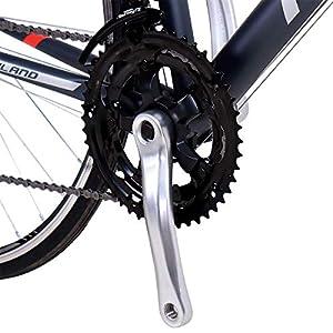Hiland Road Bike,700C 54 cm Frame City Commuter Bicycle with 14 Speeds Drivetrain,Black