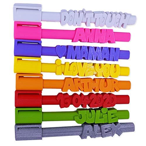 KDO3D Personalisierbarer Stift - Kugelschreiber mit Ihrem Text personalisiert - Eine außergewöhnliche Geschenkidee