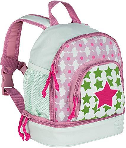 LÄSSIG Kinderrucksack Kindergartentasche mit Brustgurt/Mini Backpack Starlight Magenta