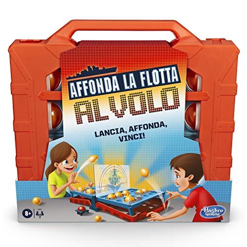 Hasbro Gaming - Se Hunde la Flota al Vuelo (Juego en Caja – versión en Italiano) Variante del clásico Juego en Caja Hunde la Flota.
