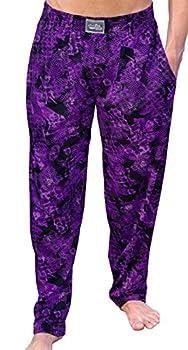 Crazee Wear Workout Purple Rain Baggy Pants