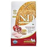 n&d low grain grain dog pollo mini monoproteico cane secco farina e frutta, multicolore, 800 unità (confezione da 1)