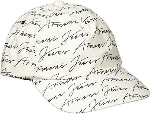 Armani Exchange Men's Printed Polyester Baseball Cap, White, One Size
