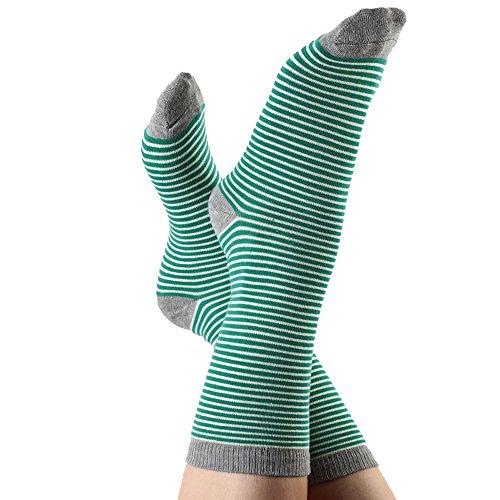 ALBERO Socken Bio-Baumwolle/Elasthan, Grün/Natur/Grau, Gr. 39/42 (1 Paar)
