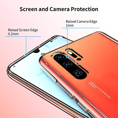 UNBREAKcable Huawei P30 Pro Hülle [stoßdämpfend, Nicht vergilbend] kristallklarer, weicher TPU Handyhülle mit Harter Rückseite aus PC für das Huawei P30Pro – Transparent - 4