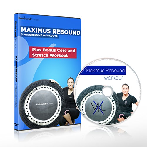 MaXimus Rebound - Mini Trampoline DVD Workout Compilation. Includes 3 progressive Motivating, Fun Rebounding Fitness Workouts - to help you Lose Weight & Tone Up