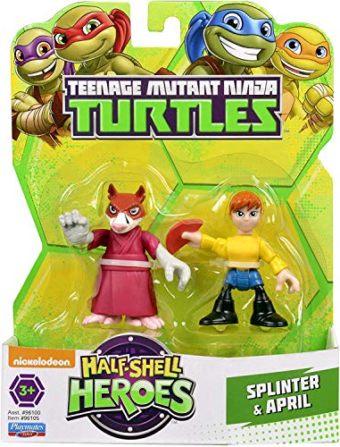 Turtles Tortugas Ninja Splinter y April Half-Shell Heroes