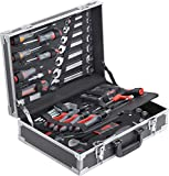 Connex Werkzeugkoffer 116-teilig - Stabiler Alu-Koffer - Werkzeug-Set - Für Haushalt, Garage & Werkstatt / Profi Werkzeugkoffer befüllt / Werkzeugkiste / Werkzeugbox komplett mit Werkzeug...