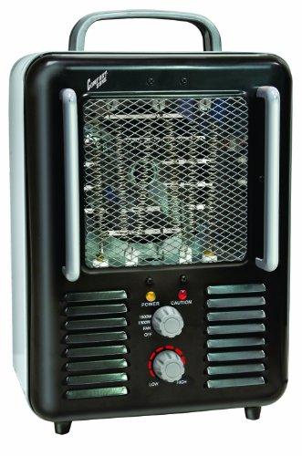 CCC Comfort Zone Metal 5120 BTU Deluxe Milkhouse Utility Heater with Steel Body CZ798BK,Black