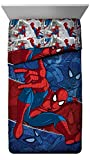 spiderman quilt - Marvel Spiderman Burst Twin Comforter - Super Soft Kids Reversible Bedding features Spiderman - Fade Resistant Polyester Microfiber Fill (Official Marvel Product)