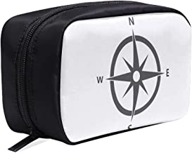 An Antique Compass Rose Hand-drawn Portable Travel Makeup Cosmetic Bags Organizer Multifunction Case Small Toiletry Bags For Women And Men Brushes Case