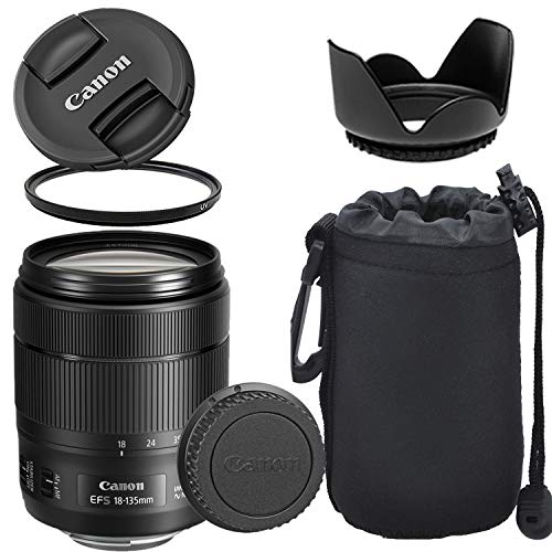 Canon EF-S 18-135mm f/3.5-5.6 is USM Lens with Optimal Accessory Bundle