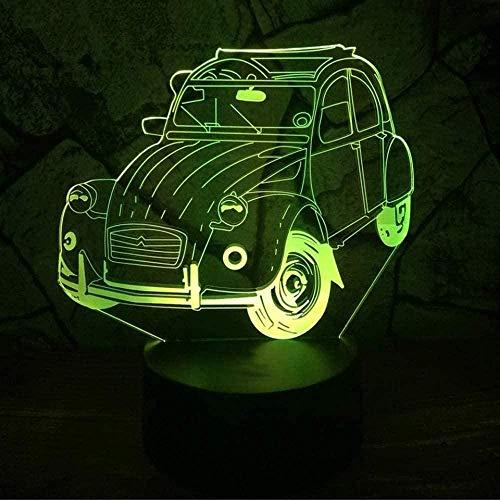 Baby Spielzeug 3D LED escarabajo coche modelado noche luz 16 colores cambiantes visión lámpara mesa moderna decoración del hogar USB cama iluminación regalos