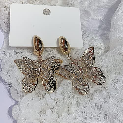 N/A Collares Mujer Pendientes De Mariposa Ruoyang Pendientes De Pelo Corto De Temperamento Retro...