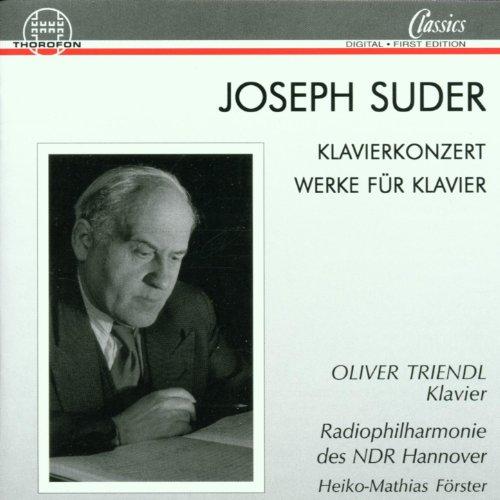 Suder: Klavierkonzert, Werke für Klavier